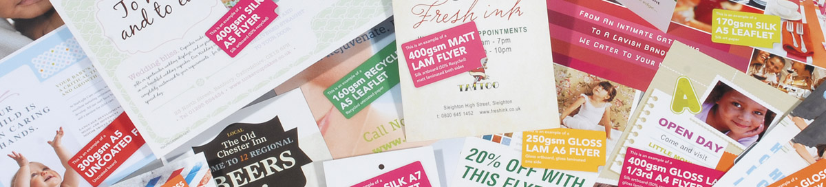 Trade price print samples