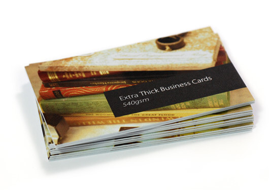 Extra thick business card