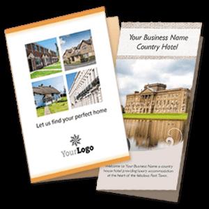 Folded leaflet templates