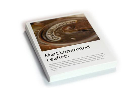 Matt laminated leaflets