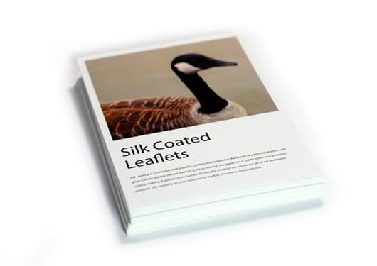 Silk coated leaflets