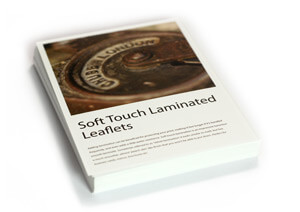 Soft touch laminated flat leaflets