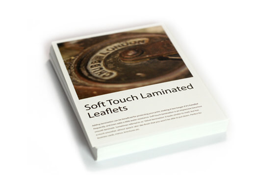 Soft touch laminated leaflets