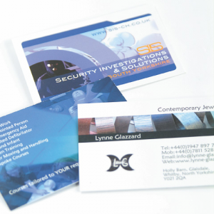 Business card: Gloss Laminated front