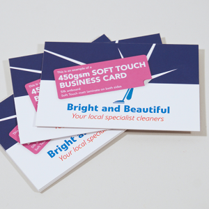 450gsm Soft Touch Matt Laminated Business Cards