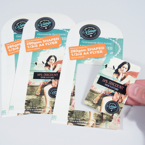 280gsm Shaped Flyers