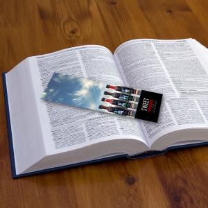 400gsm Matt Laminated Spot UV Bookmarks