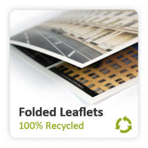 Recycled Uncoated Folded Leaflets
