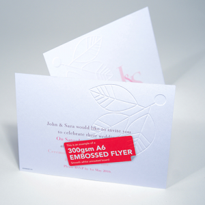 300gsm Embossed Uncoated Flyers