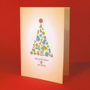 400gsm Silk Christmas Cards
