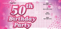 Birthday Party 1/3rd A4 Flyers - Front