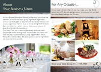 Restaurant A4 Folded Leaflets - Back
