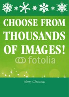 Christmas Card with message Green by Templatecloud