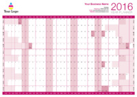 Wallplanner Pink 2016 by Templatecloud