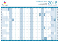 Wallplanner Blue 2016 by Templatecloud